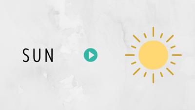 英単語の覚え方sun